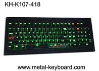 Ruggedized Backlight Keyboard Full Keys Metal Panel With Cherry Mechnical Switch