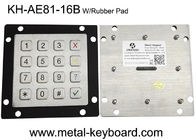 4X4 Layout Ruggedized Metal Keypad in Matrix Output for Kiosk/Transportation/Gas Station