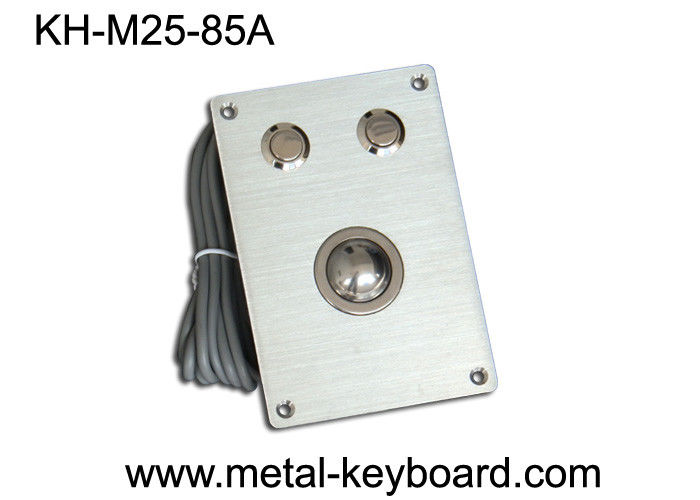 Rugged Kiosk industrial pointing device with 25MM Metal Trackball Mouse and 2 round buttons