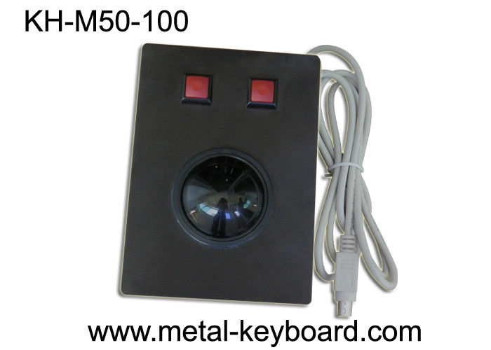 Resin Panel Mount Trackball Pointing Device Black Metal 2 Customized Buttons