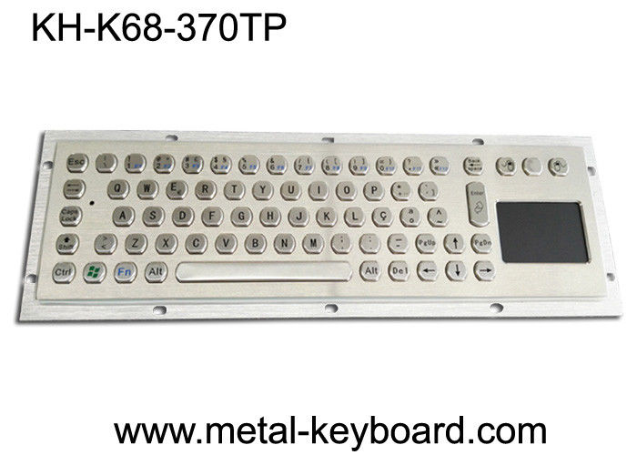 65 Keys Industrial Keyboard with Touchpad , Water - proof Stainless Steel