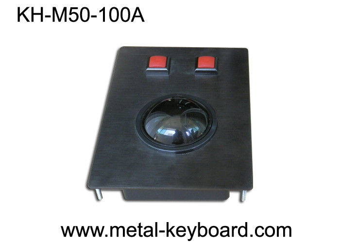 Metal Panel Mount Industrial Pointing Device Trackball Mouse Medical / Marine Applied