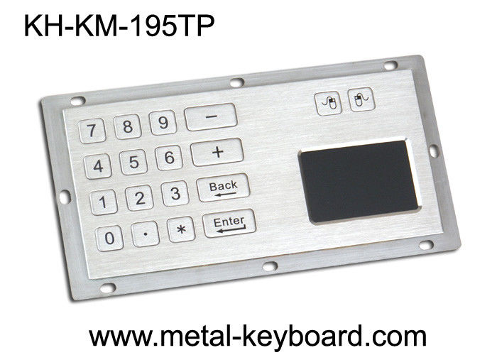 Metallic Numeric Industrial Keyboard with Touchpad 16 Keys Dust Proof