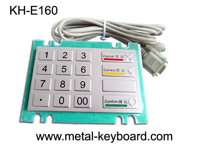 Bank Kiosk Metal PinPad with Water - proof Vandal resistant Keypad