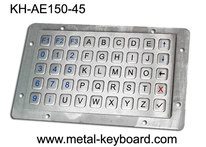 Vandalproof Laptop Panel Mount Keyboard With Metal Panle , Usb Interface