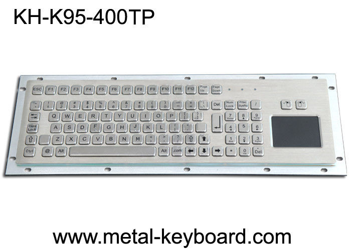 Water Proof Stainless Steel 95 Keys Metal Industrial Keyboard Layout Customizable