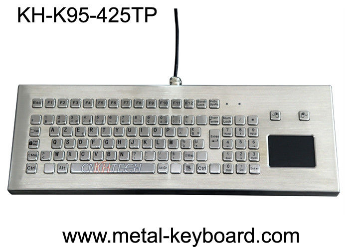 USB/PS2 Interface Metal Computer Keyboard Stainless Steel Kiosk Touchpad Avilable