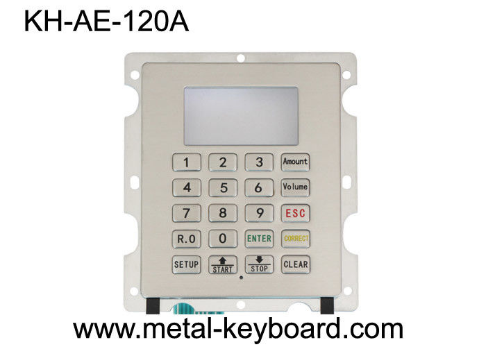 Industrial Metal Numeric Dust Proof Keyboard IP65 Protection Level With 4X4 Matrix Keypad