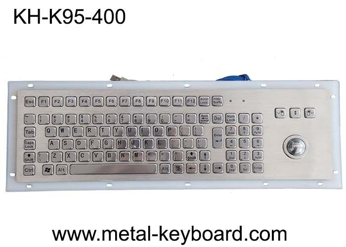 IP65 Panel Mount SS Metal Keyboard With Trackball