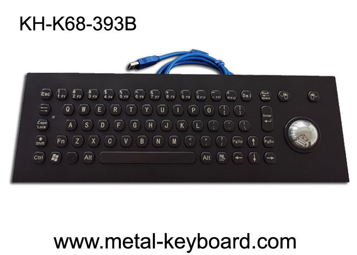 Panel Mount PS/2 PC Metal Keyboard With Laser Trackball