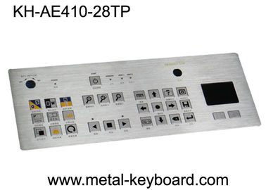 Waterproof SS Industrial Metal Keyboard With Touchpad , Rated Colorful Image Of Keys