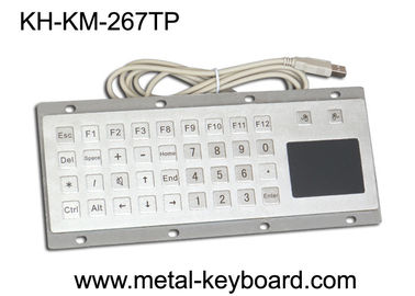 Çin Custom Mine Vandal proof Metal Panel Mount Keyboard with Touchpad Mouse Fabrika