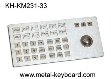 Çin Ruggedized Metal Panel Mount Industrial Keyboard with Trackball Fabrika