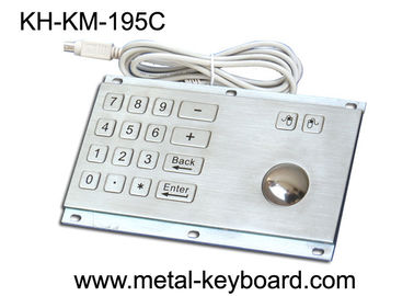 Çin Rugged Stainless Steel Panel Mount Keyboard with Trackball IP65 Rate Dustproof Fabrika